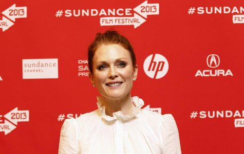 "Cast member Julianne Moore poses at the premiere of ""Don Jon's Addiction"" during the Sundance Film Festival in Park City, Utah January 18, 2"