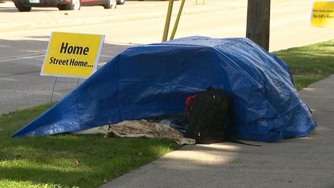Homelessness in Green Bay (Photo by: FOX 11).