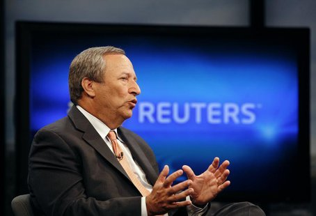 Senior White House economic adviser Lawrence Summers speaks during an interview with Reuters in Washington, June 24, 2010. REUTERS/Molly Ril