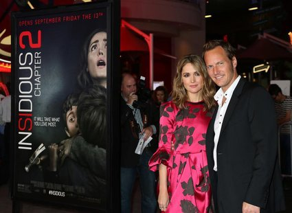 "Actors Rose Byrne and Patrick Wilson arrive for the premiere of their new film ""Insidious: Chapter 2"" in Los Angeles, California September 1"