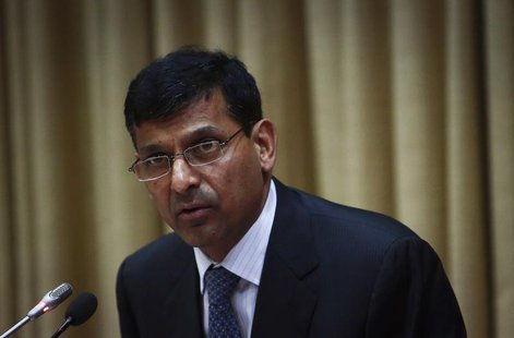 Raghuram Rajan, newly appointed governor of Reserve Bank of India (RBI), addresses a news conference at the bank's headquarters in Mumbai Se