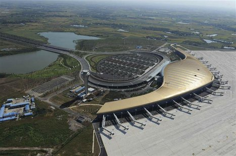An aeroview shows the newly-built Hefei Xinqiao International Airport in Hefei, Anhui province September 15, 2012. REUTERS/Stringer