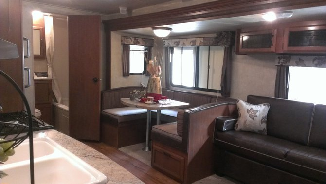 This is the inside of the camper that Greenway RV gaveaway