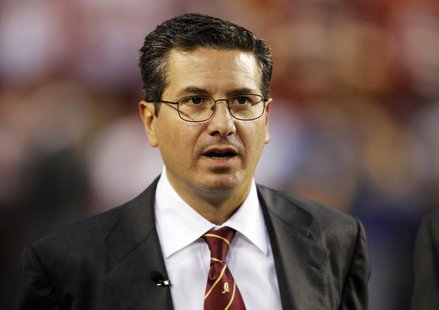 Washington Redskins team owner Dan Snyder is pictured before the Washington Redskins vs Dallas Cowboys NFL football game in Landover, Maryla