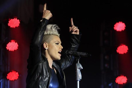 U.S. singer Pink performs during a concert in Munich September 14, 2012. REUTERS/Michaela Rehle