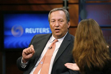 Senior White House economic adviser Lawrence Summers speaks during an interview with Reuters in Washington in this June 24, 2010 file photo.