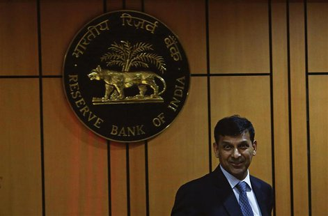 Raghuram Rajan, newly appointed governor of Reserve Bank of India (RBI), arrives for a news conference at the bank's headquarters in Mumbai