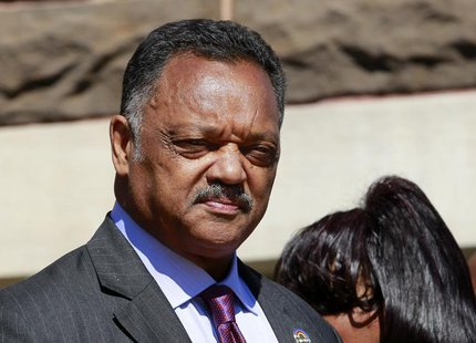 Civil rights activist Reverend Jesse Jackson looks on outside the 16th Street Baptist Church in Birmingham, Alabama September 15, 2013. REUT