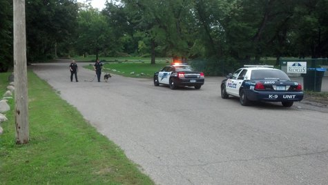 Police search Mickelson Park