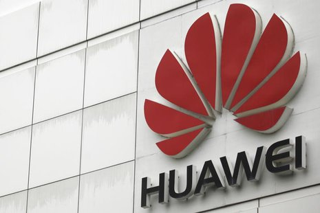 The logo of the Huawei Technologies Co. Ltd. is seen outside its headquarters in Shenzhen, Guangdong province, April 17, 2012. REUTERS/Tyron