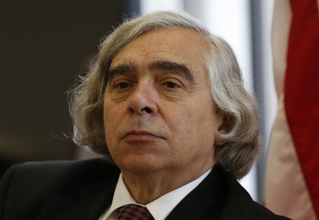 U.S. Energy Secretary Ernest Moniz speaks during an interview at his office at the Department of Energy in Washington July 18, 2013. REUTERS