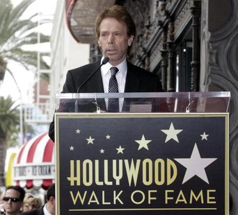 Film and television producer Jerry Bruckheimer speaks during ceremonies unveiling his star on the Hollywood Walk of Fame in Hollywood June 2
