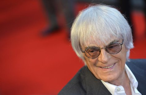 Bernie Ecclestone arrives at the world premiere of Rush at a cinema in Leicester Square, central London, September 2, 2013. REUTERS/Toby Mel