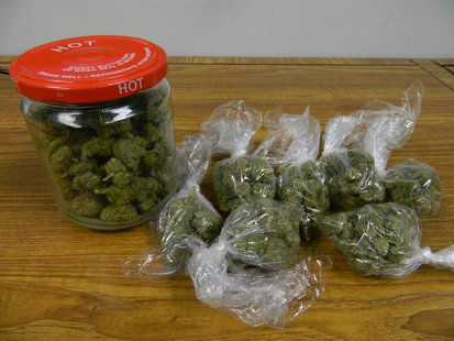 Marijuana seized during traffic stop. Photo courtesy Indiana State Police