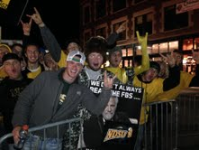 ESPN College GameDay fans gathered in downtown Fargo