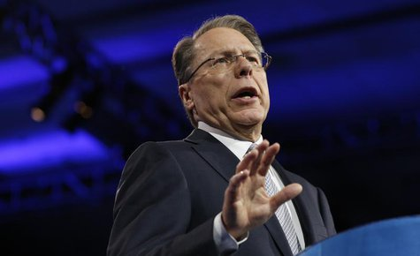 National Rifle Association CEO Wayne LaPierre speaks on the second day of the Conservative Political Action Conference (CPAC) at National Ha