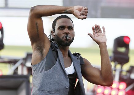 Singer Jason Derulo performs at the 2013 Wango Tango concert at the Home Depot Center in Carson, California May 11, 2013. REUTERS/Danny Molo