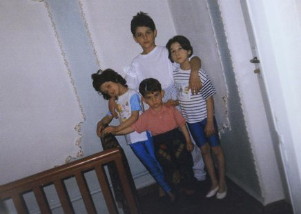 A photo showing Dzhokhar (C, bottom) and Tamerlan (C, top) Tsarnaev, accompanied by their sisters, is seen in this photo provided by the Sul