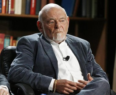 "Sam Zell, Chairman and President, Equity Group Investments LLC and Chairman and CEO, Tribune Company, speaks during a panel discussion on ""C"