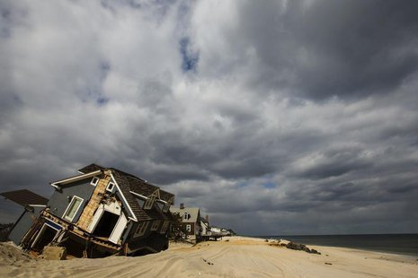 A home destroyed nearly five months ago during the landfall of Superstorm Sandy is pictured in Mantoloking, New Jersey March 22, 2013. REUTE