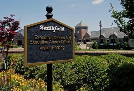 The executive offices of Smithfield Foods are seen in Smithfield, Virginia May 30, 2013. REUTERS/Rich-Joseph Facun