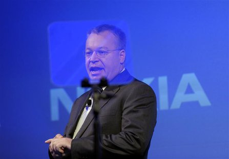 Former Nokia CEO Stephen Elop speaks during the news conference of the Finnish mobile phone manufacturer Nokia in Espoo, September 3, 2013.