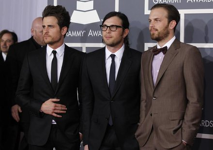 Kings of Leon arrive at the 54th annual Grammy Awards in Los Angeles, California February 12, 2012. REUTERS/Danny Moloshok