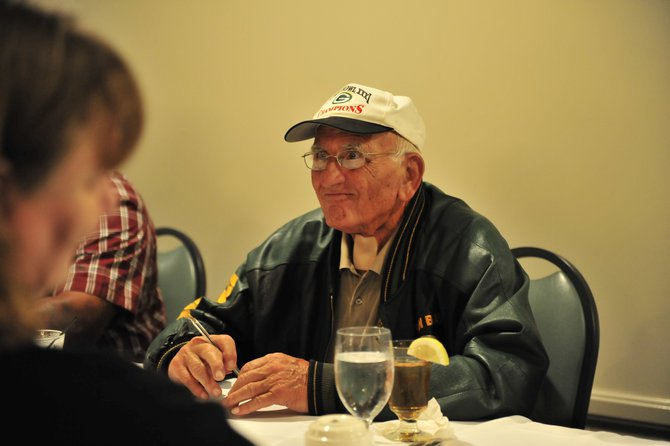 Green & Gold Legends Lunch in Wausau with Fuzzy Thurston.  Photo by Dave Kallaway.