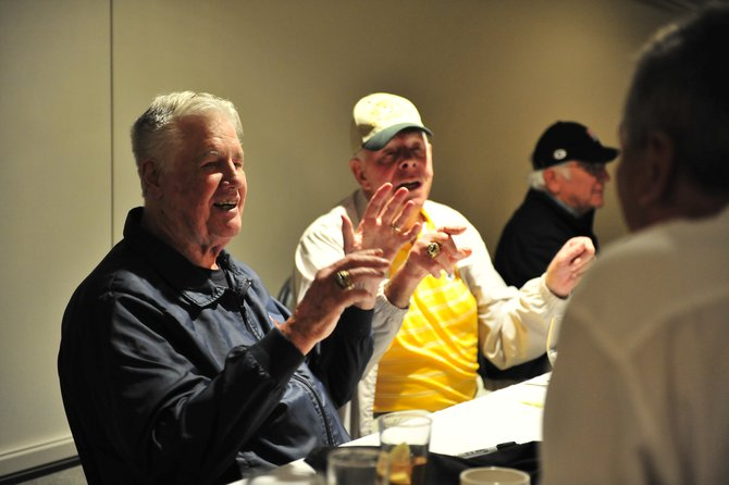 Green & Gold Legends Lunch in Wausau with Bob Long, Bob Skoronski, and Doug Hart.  Photo by Dave Kallaway.