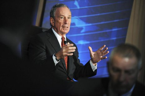 New York City Mayor Michael Bloomberg speaks during the meeting of the Wall Street Journal CEO Council in Washington, November 16, 2010. REU