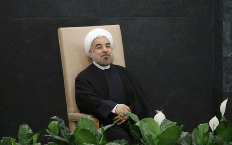 Iran's President Hassan Rouhani waits to address the 68th United Nations General Assembly at UN headquarters in New York, September 24, 2013