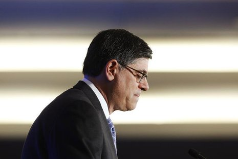 U.S. Treasury Secretary Jack Lew pauses while delivering remarks to the Economic Club of Washington D.C., in Washington, September 17, 2013.