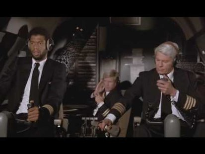 "Scene from the movie ""Airplane"". (Photo from: YouTube)."