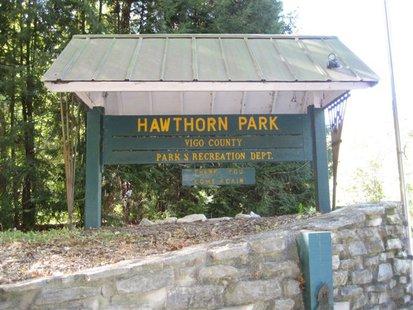 Hawthorn Park Sign