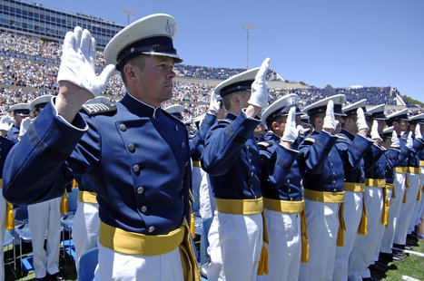 Graduation at the US Air Force Academy. (USAFA.edu)