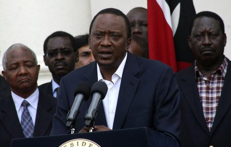 Kenya's President Uhuru Kenyatta addresses the nation on the Westgate shopping mall attack in the capital Nairobi September 22, 2013. REUTER