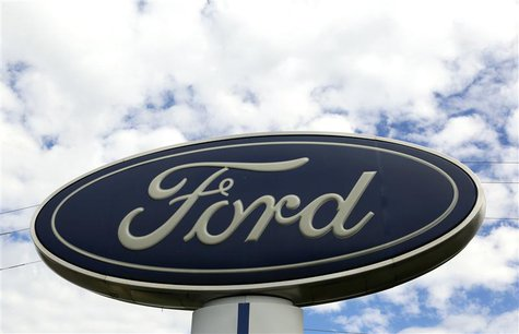 The sign at a Ford dealer is pictured in Lakewood, Colorado September 4, 2013. REUTERS/Rick Wilking