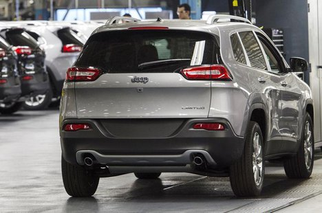 The upgraded North section of the Chrysler Toledo Assembly Complex which will be used to produce the Jeep Cherokee is seen during a media to