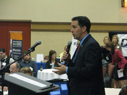 Gov. Scott Walker addresses Governor's Small Business Summit