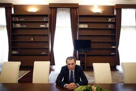 Bulgarian Prime Minister Plamen Oresharski listens to a question during an interview with Reuters in his office in Sofia July 26, 2013. REUT