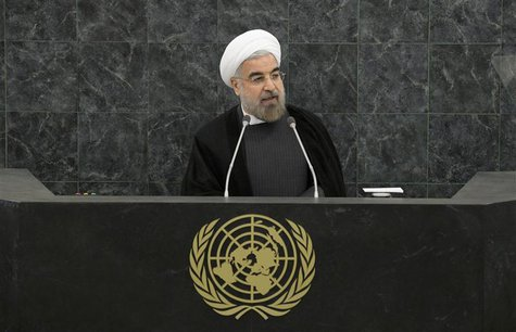 Iranian President Hassan Rouhani addresses a High-Level Meeting on Nuclear Disarmament during the 68th United Nations General Assembly at U.