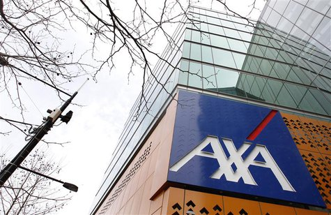 The AXA Asia Pacific logo sign is seen on a signboard at its headquarters in Melbourne September 9, 2010. REUTERS/Mick Tsikas