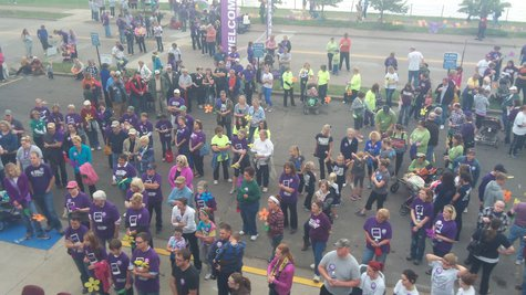 Crowd gathered at Paulucci Hall for the 2013 Walk To End Alzheimer's Duluth Area Walk