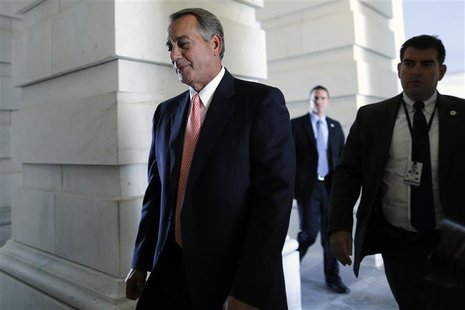 U.S. House Speaker John Boehner (R-OH) arrives at the U.S. Capitol in Washington September 30, 2013. REUTERS/Jonathan Ernst