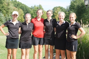 Coldwater girls golf team after 4th place finish in SMAC Tournament Saturday, September 28, 2013