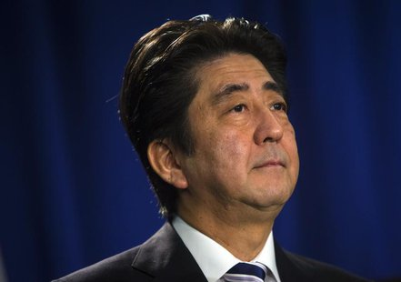 Japanese Prime Minister Shinzo Abe speaks at a news conference in New York September 27, 2013. REUTERS/Eric Thayer