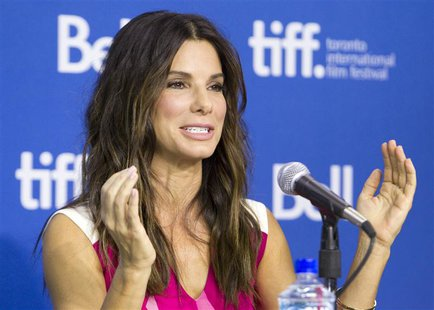 "Actress Sandra Bullock attends a news conference for the film ""Gravity"" at the 38th Toronto International Film Festival September 9, 2013. R"