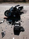 The rider was wearing a helmet and investigators say alcohol was not a factor.