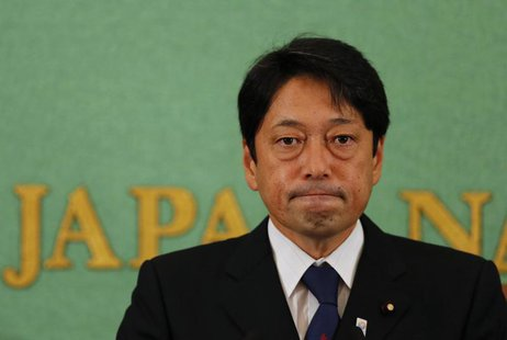 Japan's Defence Minister Itsunori Onodera attends a news conference at the Japan National Press Club in Tokyo September 3, 2013. REUTERS/Tor