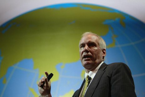 Boston Fed President Eric Rosengren speaks during the Sasin Bangkok Forum July 9, 2012. REUTERS/Sukree Sukplang